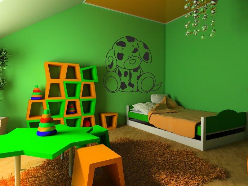 Влияние цветов на развитие малыша: цвет зеленый