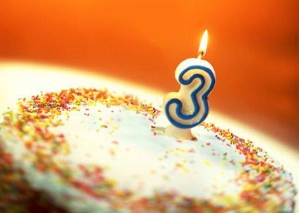Как отметить день рождения в 3 года?