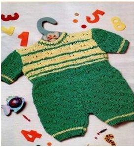 Как связать спицами малышу детский бодик