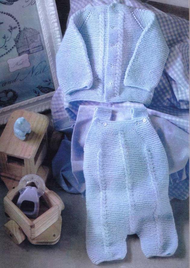 Вязание для детей со схемами, костюмчик на 6 месяцев