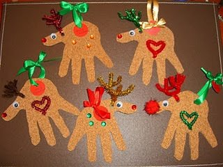 Новогодние поделки своими руками.Веселые олени на елку.