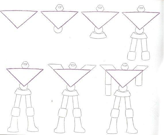 Пошаговый урок, как нарисовать робота